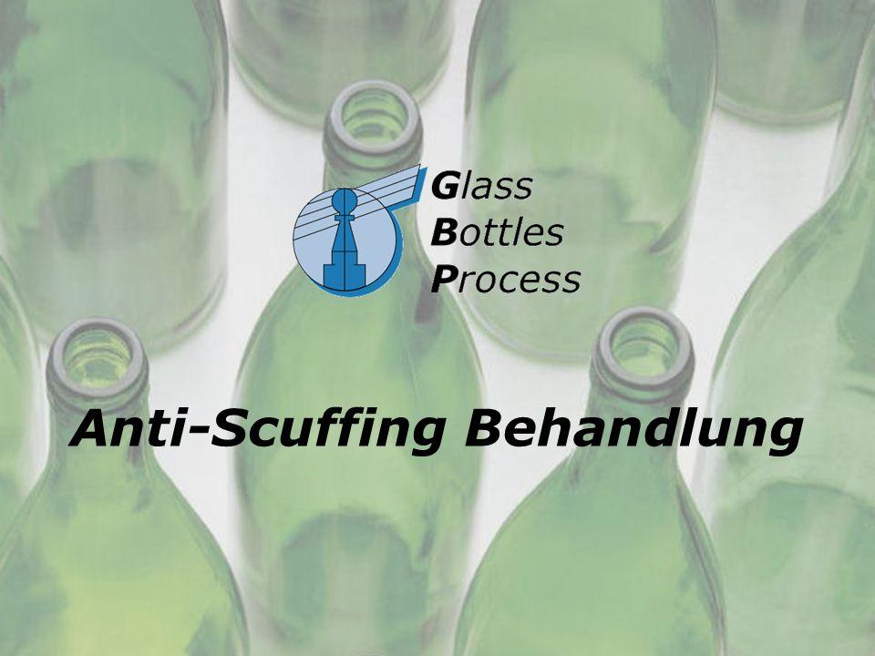 Anti- scuffing Behandlung Wirtschaftliche Vorteile geringe Investition geringe Verbrauchsmaterialskosten Ihre Flascheninvestitionen werden von 50 % reduziert Verwaltung Ihres Pfandguts