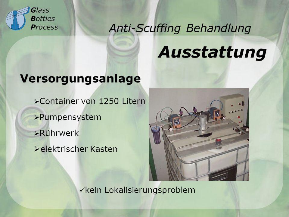 Anti-Scuffing Behandlung Ausstattung Versorgungsanlage Container von 1250 Litern Pumpensystem Rührwerk elektrischer Kasten kein Lokalisierungsproblem