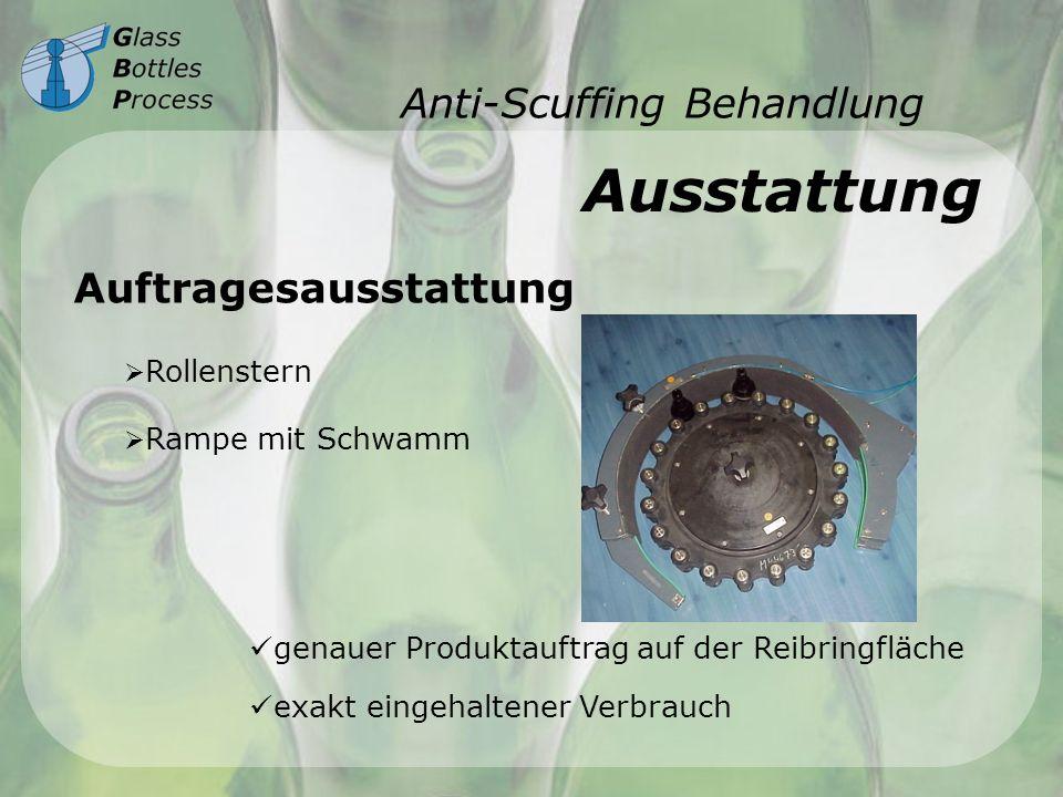 Anti-Scuffing Behandlung Ausstattung Auftragesausstattung Rollenstern Rampe mit Schwamm genauer Produktauftrag auf der Reibringfläche exakt eingehalte