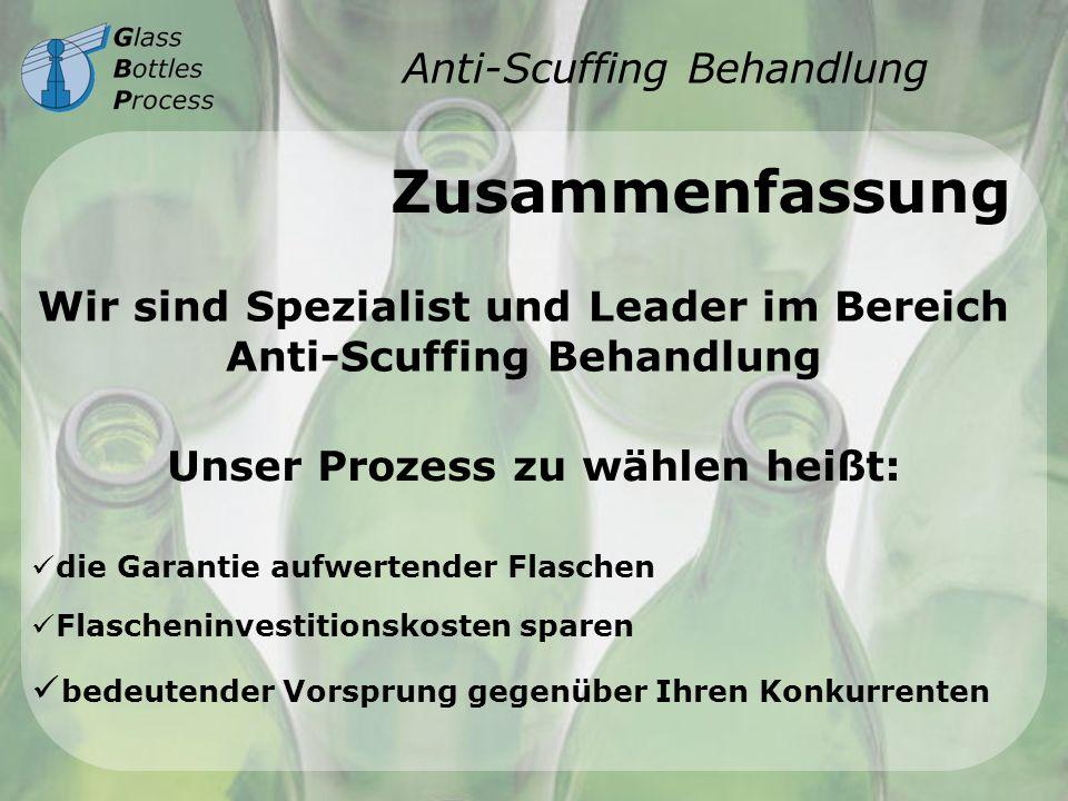 Anti-Scuffing Behandlung Zusammenfassung Wir sind Spezialist und Leader im Bereich Anti-Scuffing Behandlung Unser Prozess zu wählen heißt: die Garanti