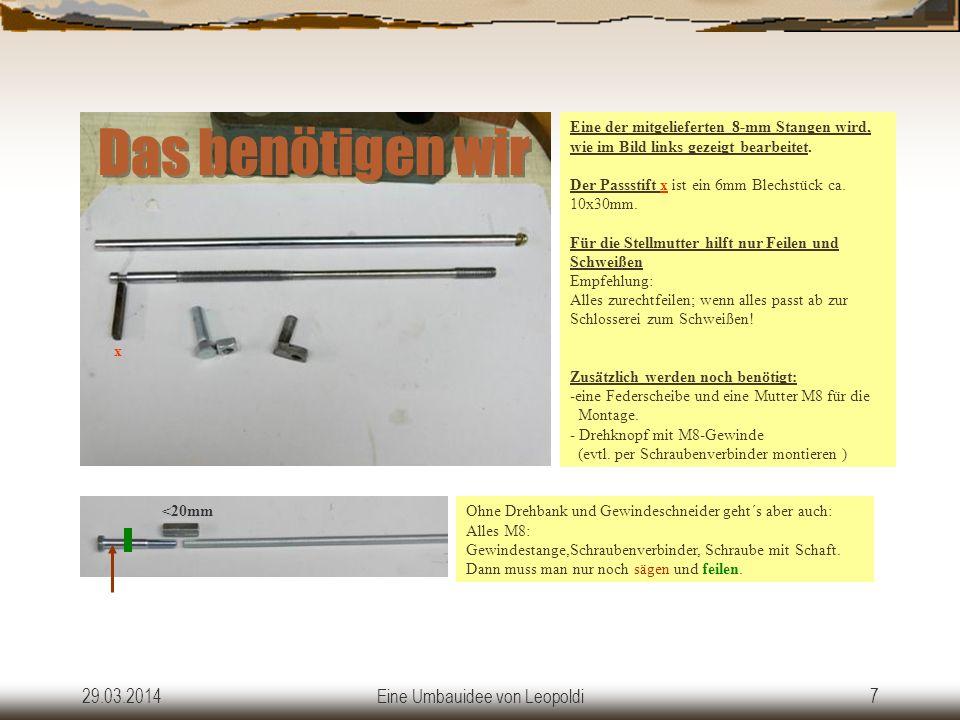 29.03.2014Eine Umbauidee von Leopoldi6 Der fertige Umbau