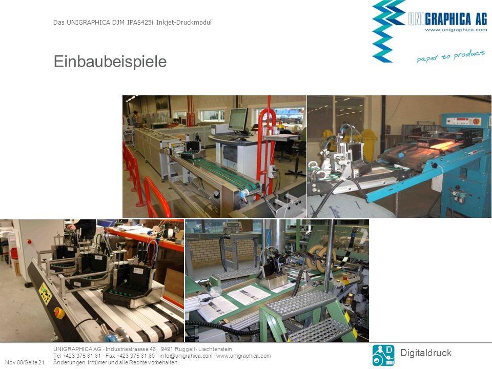UNIGRAPHICA AG · Industriestrassse 46 · 9491 Ruggell · Liechtenstein Tel +423 375 81 81 · Fax +423 375 81 80 · info@unigrahica.com · www.unigraphica.com Nov 08/Seite 21Änderungen, Irrtümer und alle Rechte vorbehalten.