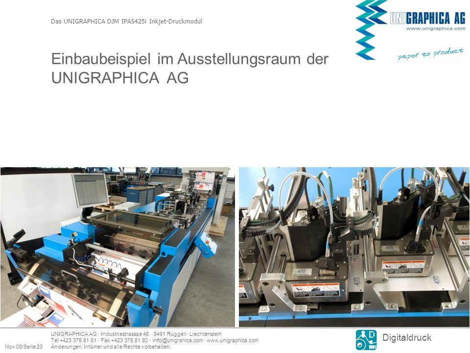 UNIGRAPHICA AG · Industriestrassse 46 · 9491 Ruggell · Liechtenstein Tel +423 375 81 81 · Fax +423 375 81 80 · info@unigrahica.com · www.unigraphica.com Nov 08/Seite 23Änderungen, Irrtümer und alle Rechte vorbehalten.