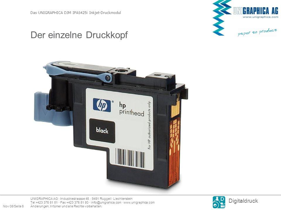 UNIGRAPHICA AG · Industriestrassse 46 · 9491 Ruggell · Liechtenstein Tel +423 375 81 81 · Fax +423 375 81 80 · info@unigrahica.com · www.unigraphica.com Nov 08/Seite 6Änderungen, Irrtümer und alle Rechte vorbehalten.