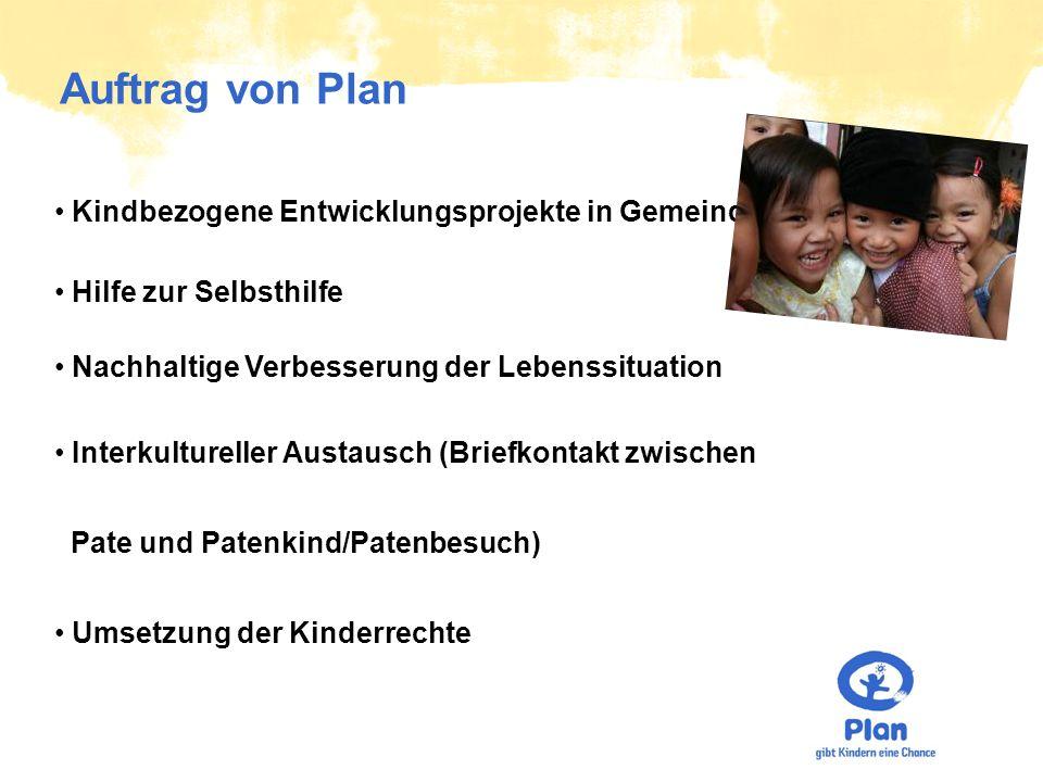 Vision von Plan Das Kinderhilfswerk Plan will helfen, eine Welt zu gestalten, in der Kinder keine Armut leiden, sich gesund entwickeln und sich frei entfalten können.