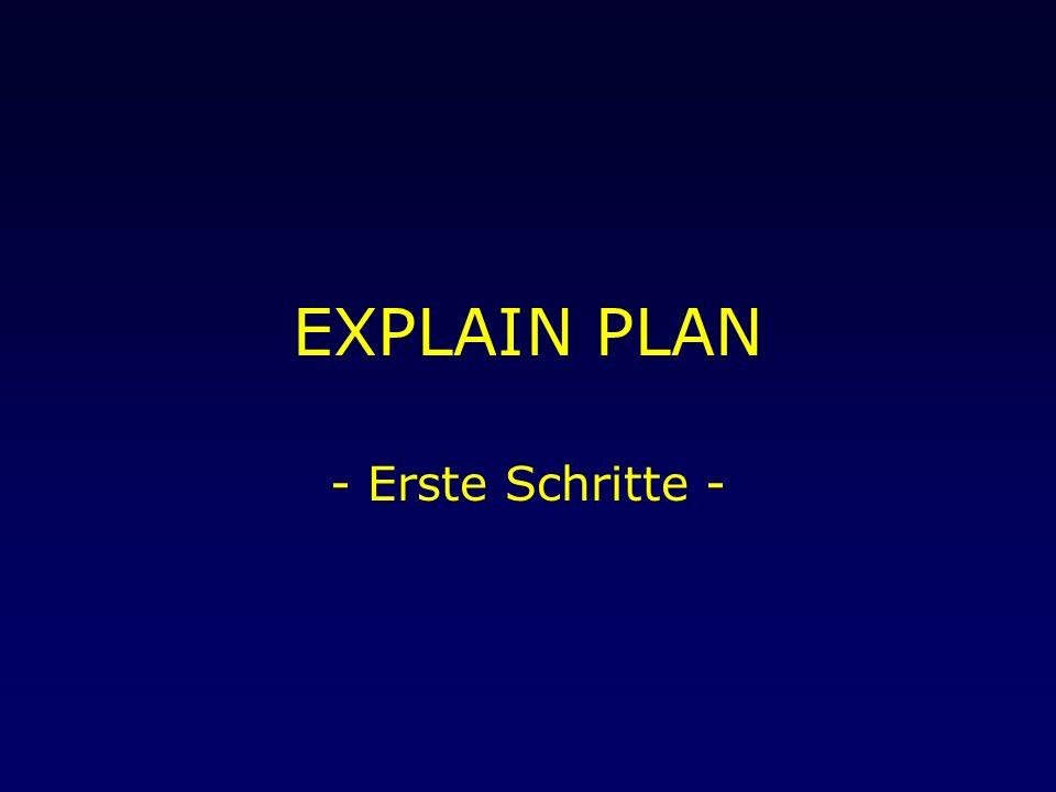 EXPLAIN PLAN - Erste Schritte -