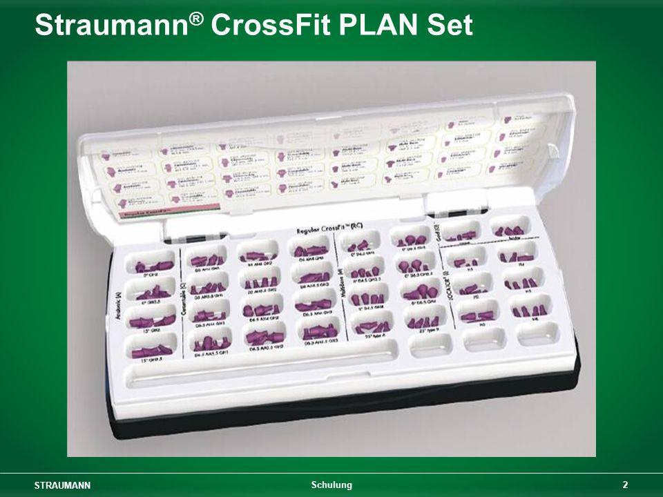 STRAUMANN 3 Schulung Straumann ® CrossFit PLAN Set Narrow CrossFit Komponenten