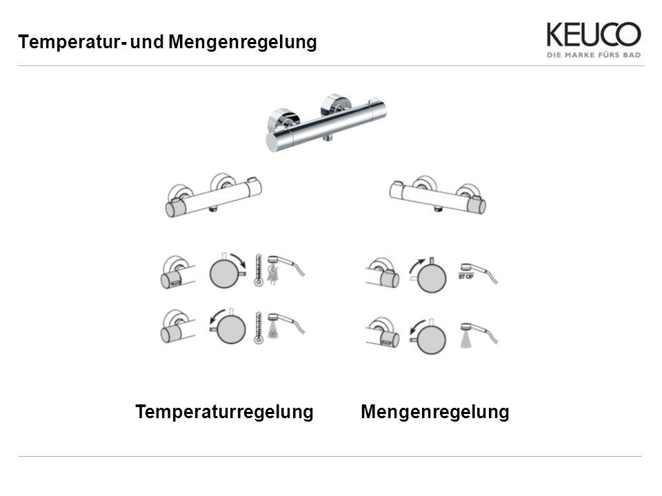 Temperatur- und Mengenregelung TemperaturregelungMengenregelung