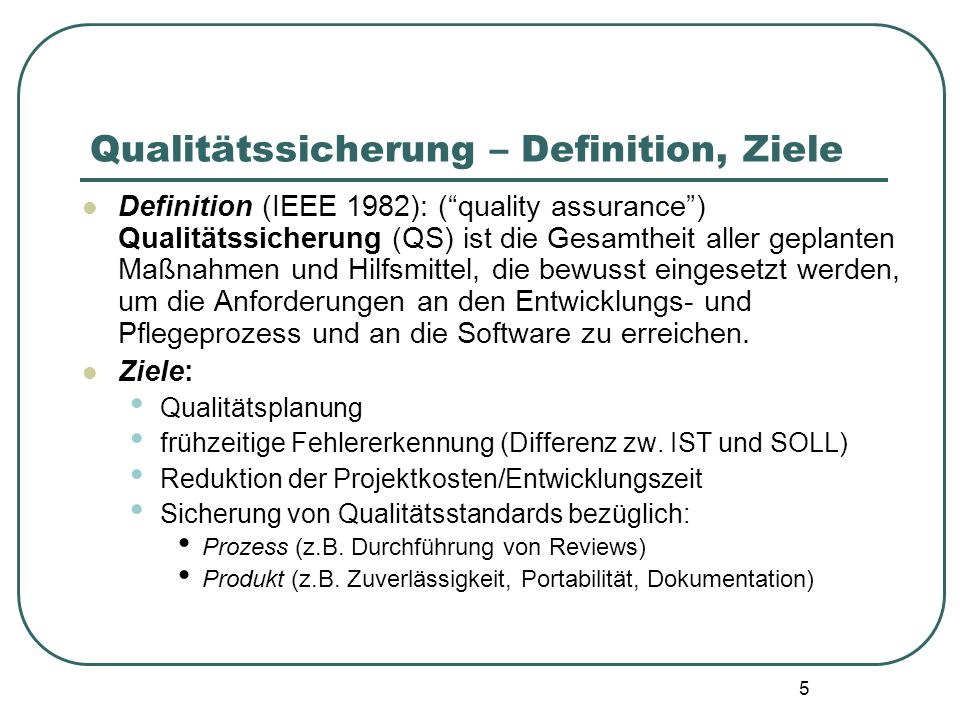 36 Beispiele zweier ISO 9001 Standard Elemente: 4.4 Design control: You must have procedures for controlling and verifying the design output to ensure that specified requirements will be met.