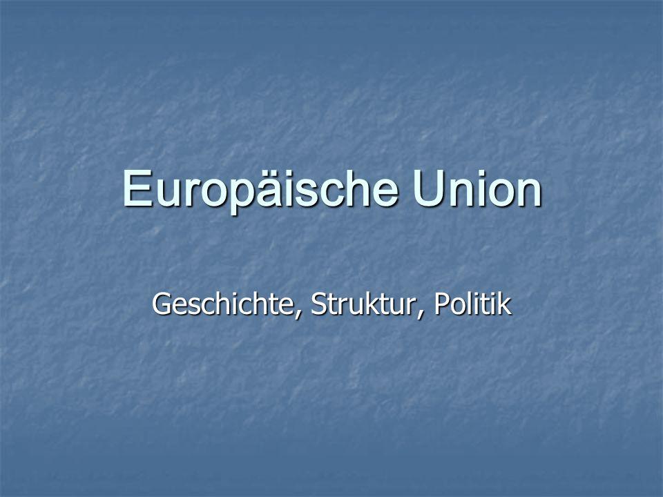 Europäische Union Geschichte, Struktur, Politik
