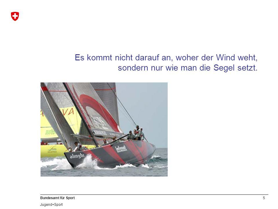5 Bundesamt für Sport Jugend+Sport Es kommt nicht darauf an, woher der Wind weht, sondern nur wie man die Segel setzt.