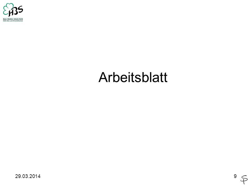 29.03.20149 Arbeitsblatt