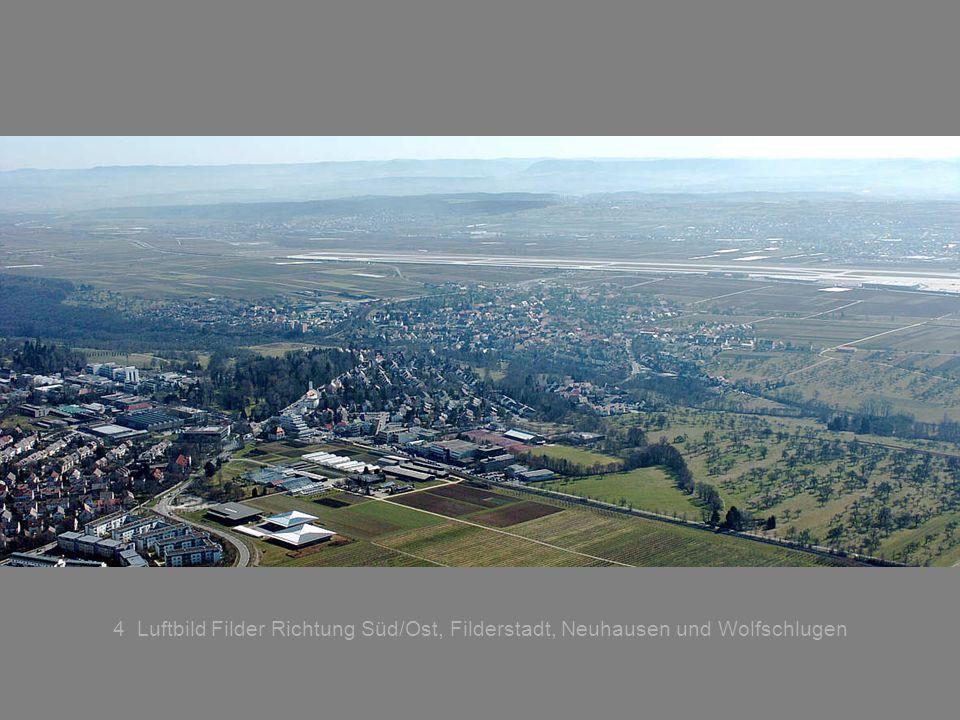 5 Luftbild Richtung Westen Möhringen Vaihingen und Echterdingen