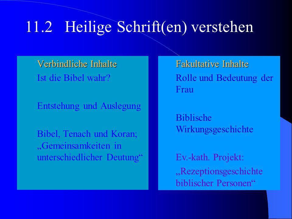 Teil 2Die Themen der Kurshalbjahre mit Unterrichtsinhalten Verbindliche Inhalte Religion und Formen religiöser Erfahrung Religion zwischen Säkularisat