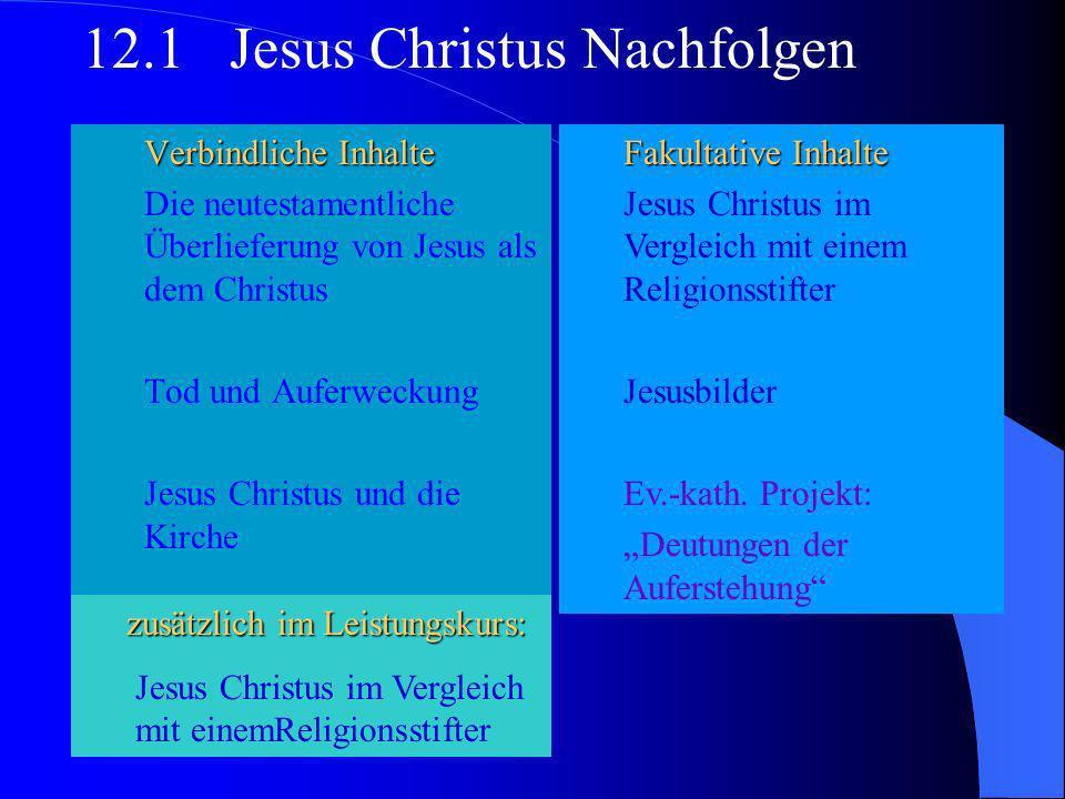 Verbindliche Inhalte Ist die Bibel wahr? Entstehung und Auslegung Bibel, Tenach und Koran; Gemeinsamkeiten in unterschiedlicher Deutung 11.2 Heilige S