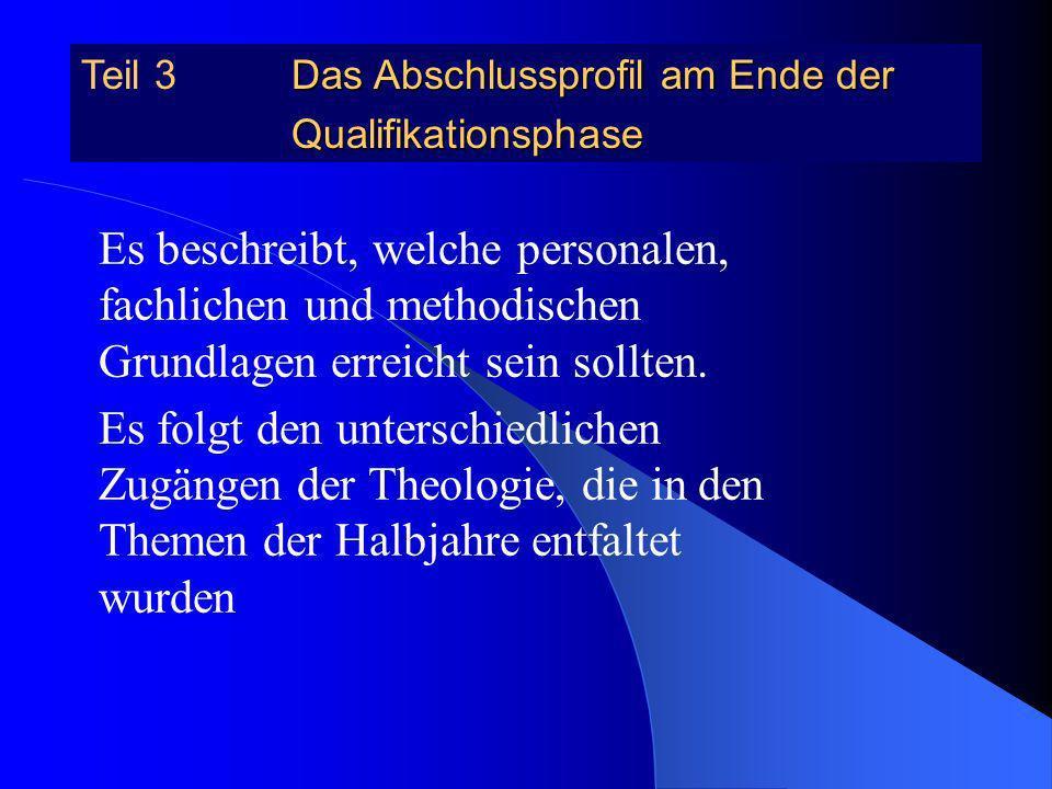 Verbindliche Inhalte Christ-sein und Kirche im Wandel der Zeiten Christ-sein und Spiritualität Christ-sein und Engagement 13.2 Als Christ leben Fakult