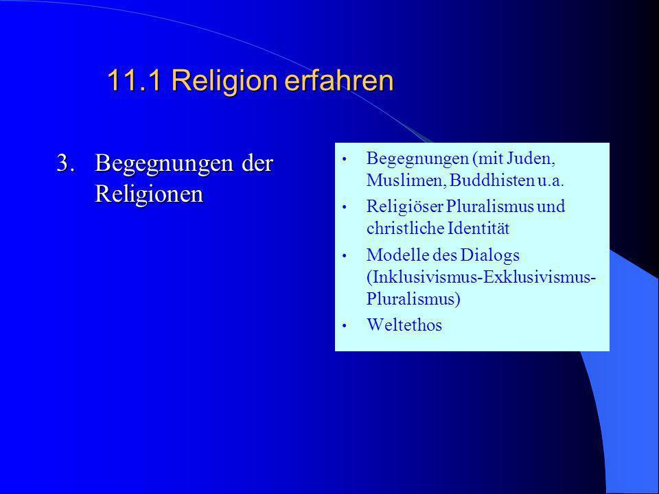 11.1Religion erfahren 2.Religion zwischen Säkularisation und neuer Religiosität Auswirkungen der Aufklärung auf die Religion Traditionsabbruch Individ