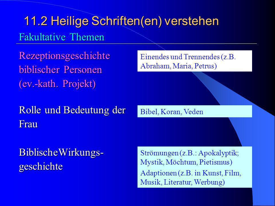 11.2Heilige Schrift(en) verstehen 3. Bibel, Tenach und Koran; Gemeinsamkeiten in unterschiedlicher Deutung Orginal und Übersetzung; unterschiedliche S