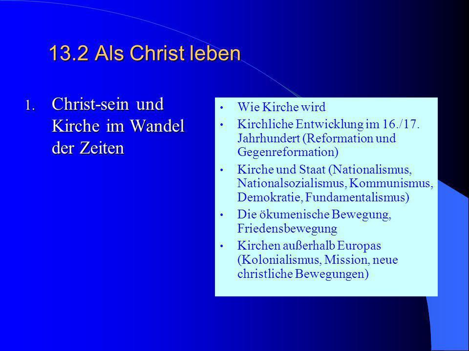13.1Nach Gott fragen Fakultative Themen Gerechtigkeit Gottes (ev.-kath. Projekt) Prädestination oder menschliche Freiheit Streit um die Abbilder Gotte