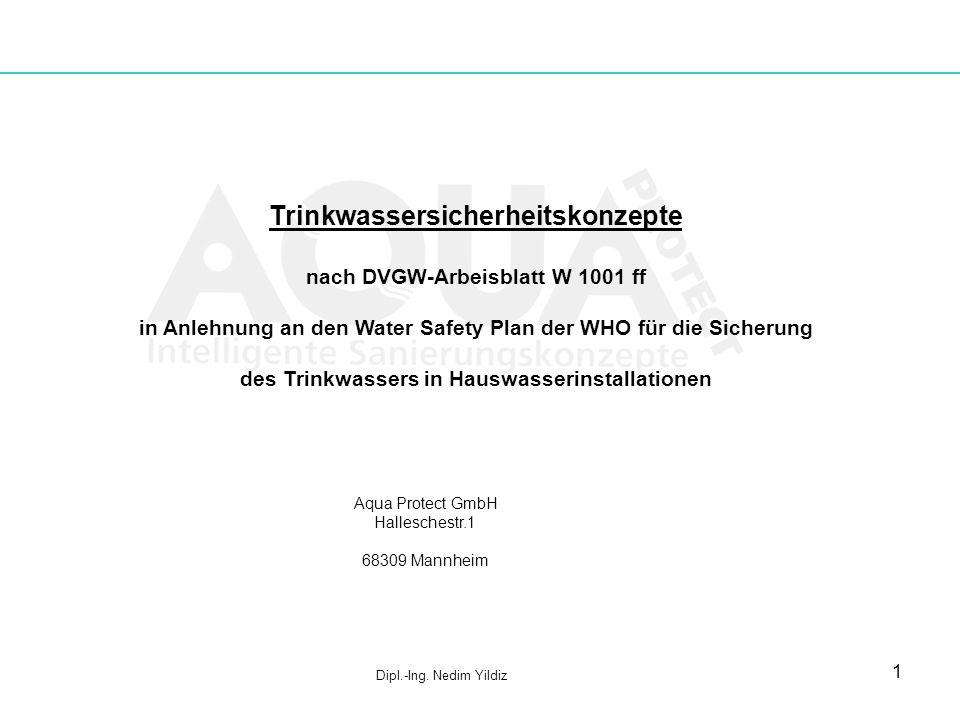 1 Trinkwassersicherheitskonzepte nach DVGW-Arbeisblatt W 1001 ff in Anlehnung an den Water Safety Plan der WHO für die Sicherung des Trinkwassers in H