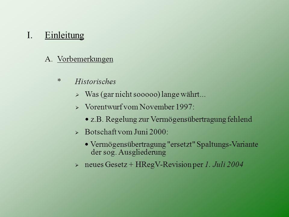 III.Besonderer Teil F.Zum Gläubigerschutz 1) Spezialregelungen d) Solidarische Haftung: Vermögensübertragung: Art.