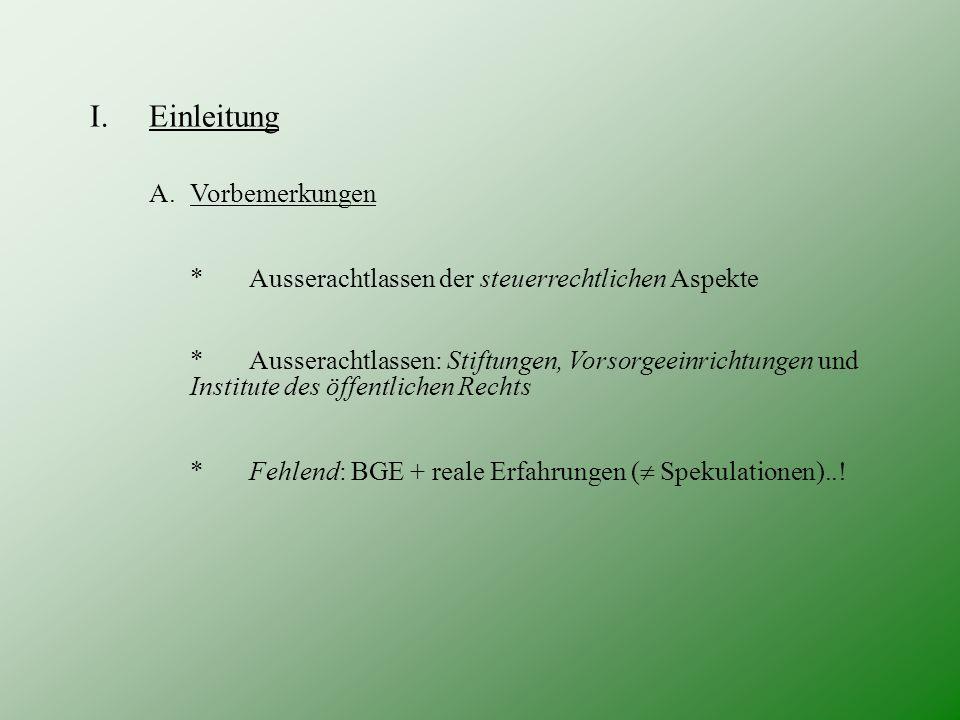 III.Besonderer Teil F.Zum Gläubigerschutz 1) Spezialregelungen - v.a.