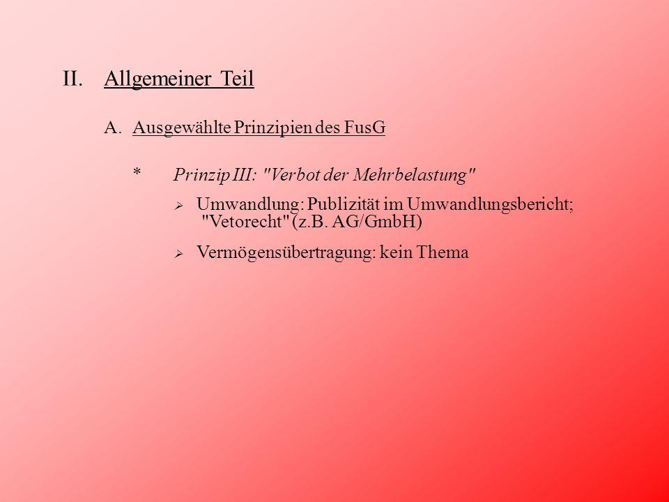 III.Besonderer Teil F.Zum Gläubigerschutz 2) (Mit-)Berücksichtigung bei Strukturanpassungen.