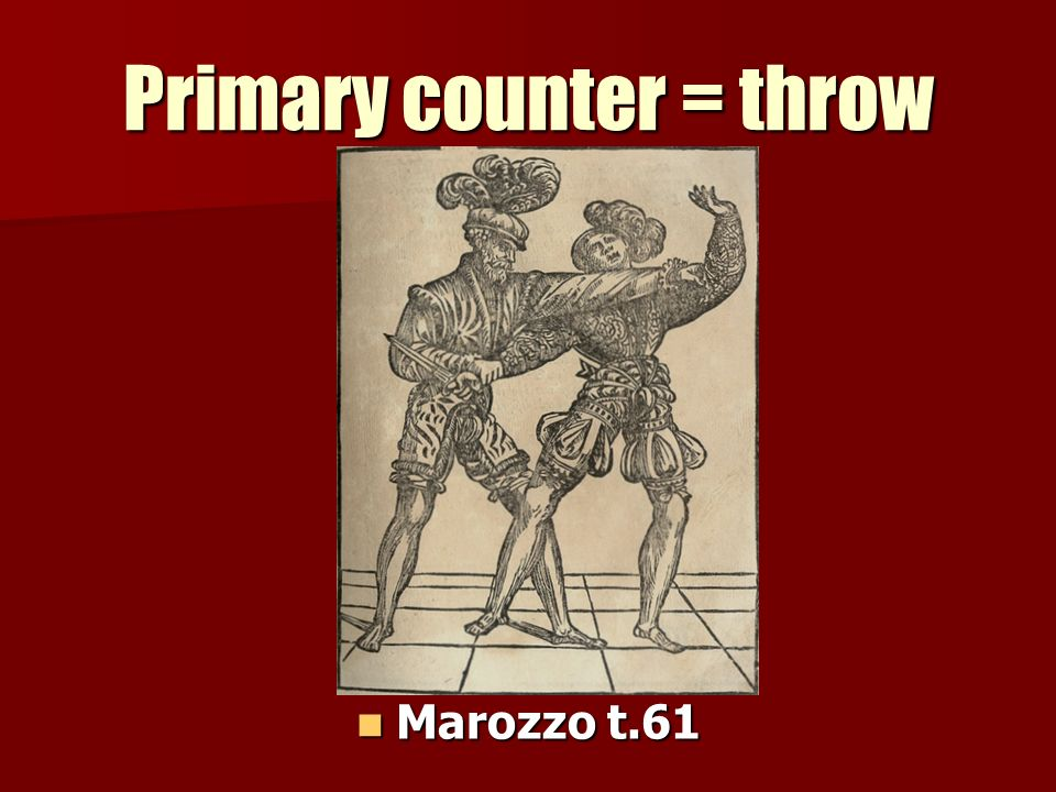 Primary counter = throw Marozzo t.61 Marozzo t.61