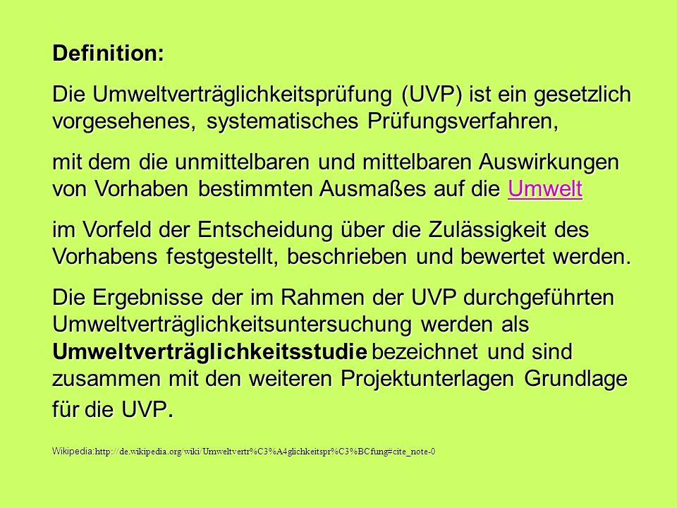 Rechtliche Grundlagen der UVP Richtlinie 85/337EWG vom 27.6.