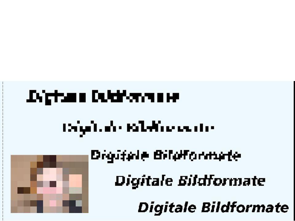 Die einzelnen Pixel sind im Normalfall nicht sichtbar.