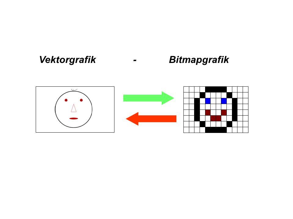 Vektorgrafik - Bitmapgrafik