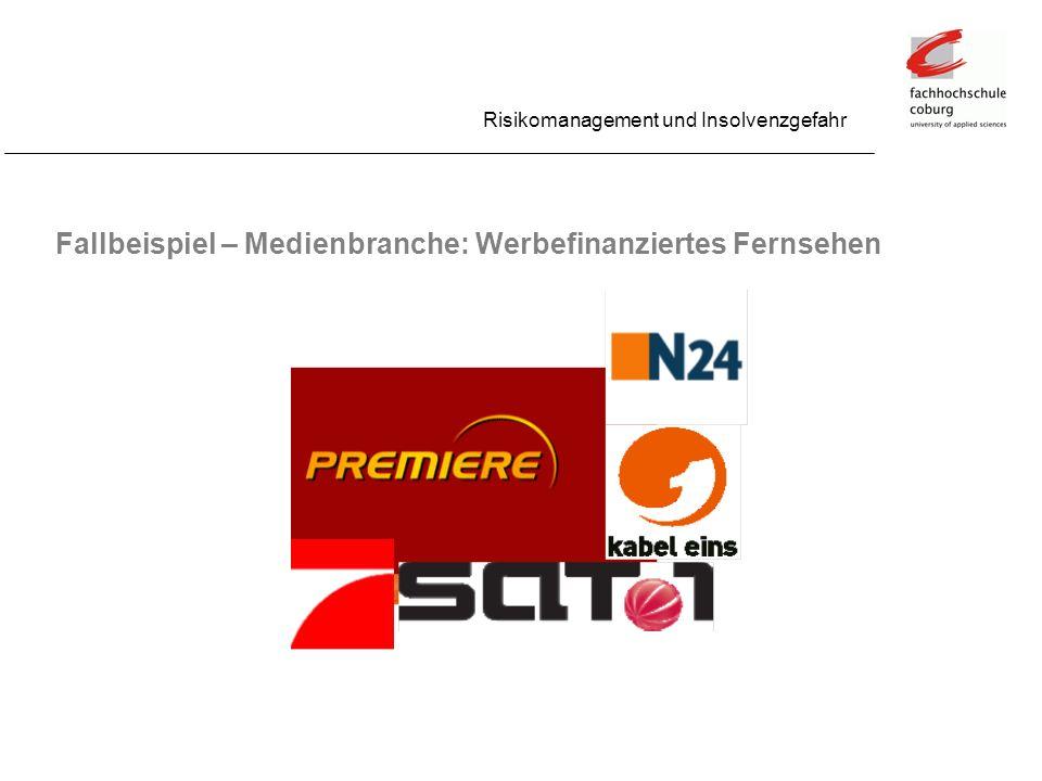 Fallbeispiel – Medienbranche: Werbefinanziertes Fernsehen Risikomanagement und Insolvenzgefahr