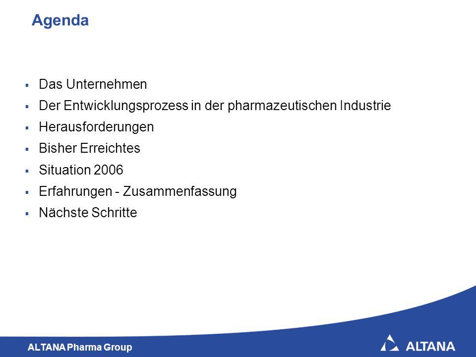 ALTANA Pharma Group 2 Agenda Das Unternehmen Der Entwicklungsprozess in der pharmazeutischen Industrie Herausforderungen Bisher Erreichtes Situation 2