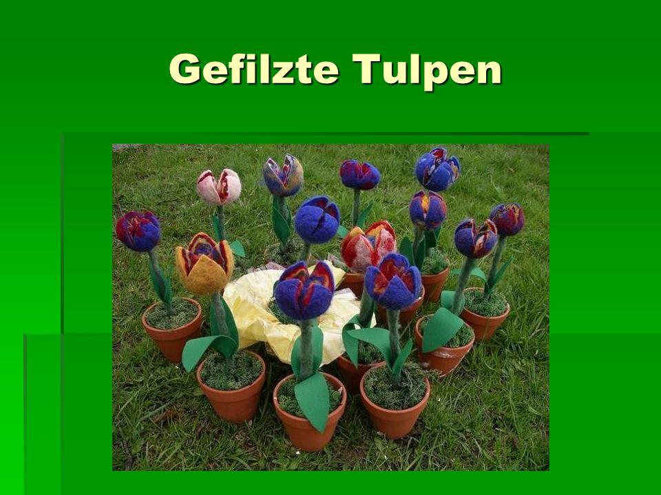 Gefilzte Tulpen