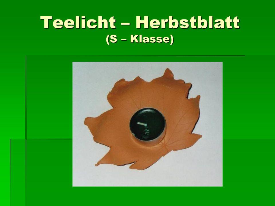 Teelicht – Herbstblatt (S – Klasse)