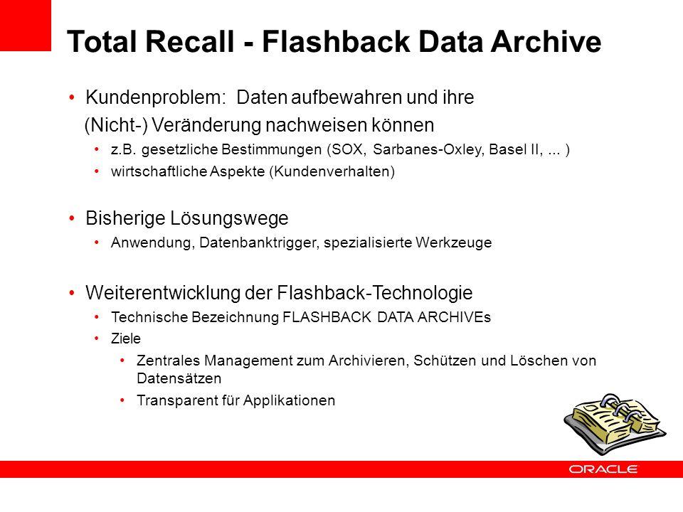 Kundenproblem: Daten aufbewahren und ihre (Nicht-) Veränderung nachweisen können z.B. gesetzliche Bestimmungen (SOX, Sarbanes-Oxley, Basel II,... ) wi