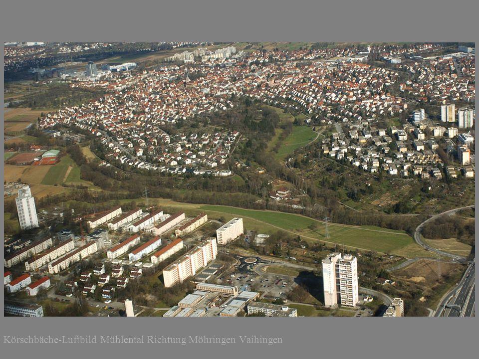 Körschbäche-Luftbild Mühlental Richtung Scharnhausen und Neckar