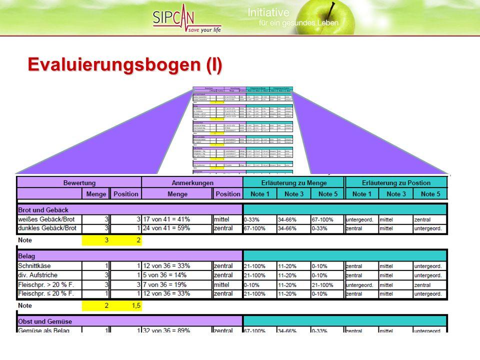 Evaluierungsbogen (I)