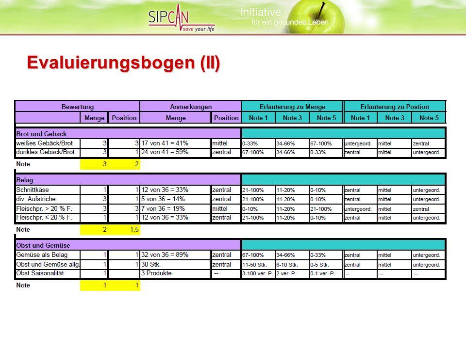 Evaluierungsbogen (II)