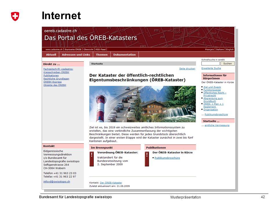 42 Bundesamt für Landestopografie swisstopo Musterpräsentation Internet