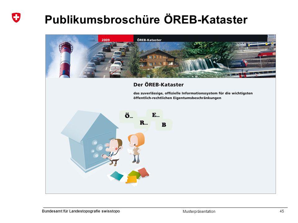 45 Bundesamt für Landestopografie swisstopo Musterpräsentation Publikumsbroschüre ÖREB-Kataster