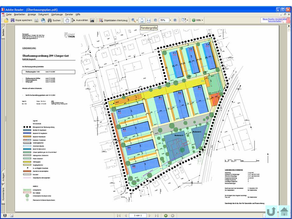 54 Bundesamt für Landestopografie swisstopo Musterpräsentation Überbauungsplan