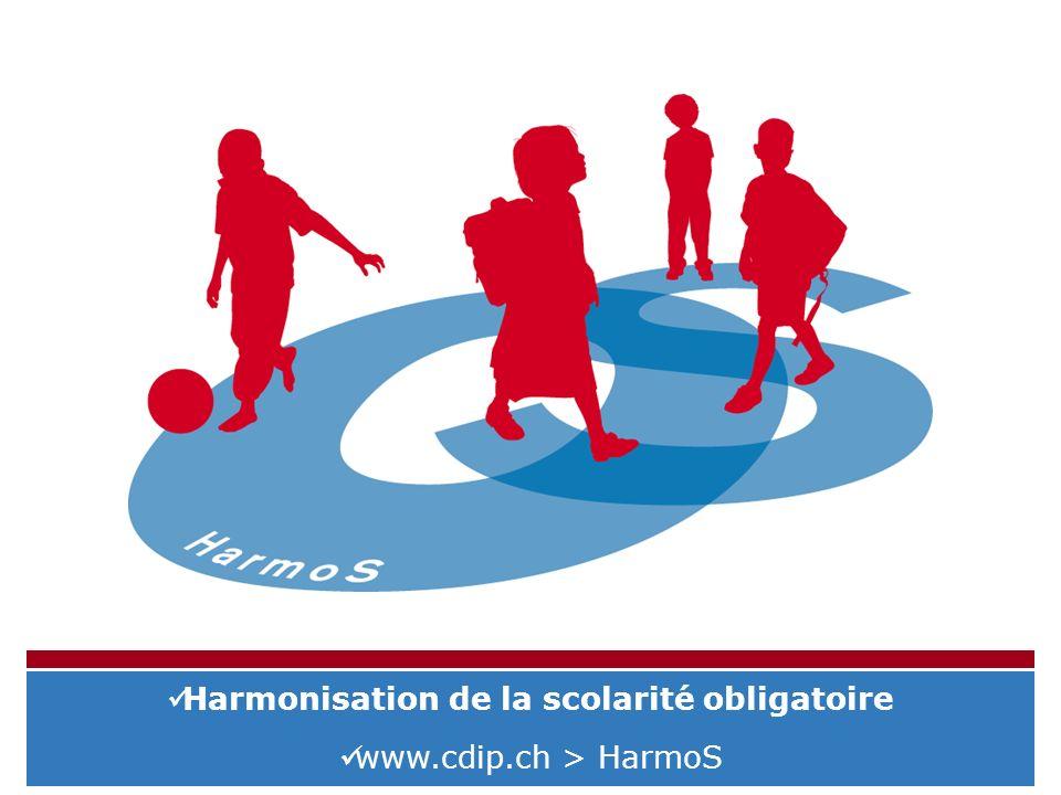 Harmonisation de la scolarité obligatoire www.cdip.ch > HarmoS