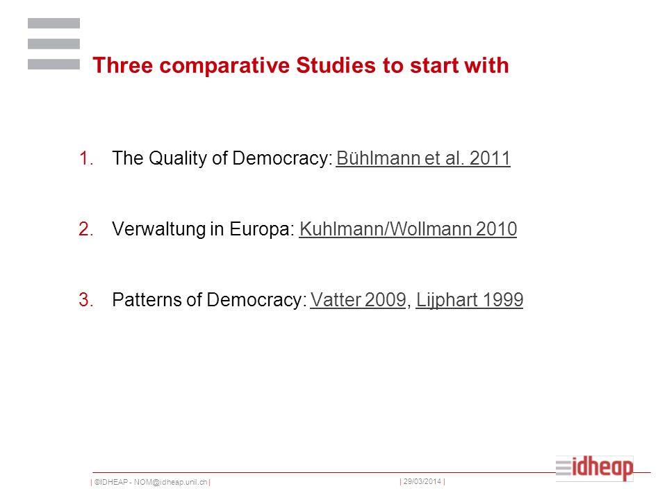   ©IDHEAP - NOM@idheap.unil.ch     29/03/2014   Le nouveau régionalisme Afin de dépasser l opposition entre ces deux théories, un troisième courant propose une nouvelle approche de la question de la gestion des agglomérations.
