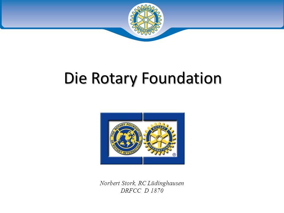 Humanitäre Programme Bildungs- programme Polio Plus Programme der Rotary Foundation