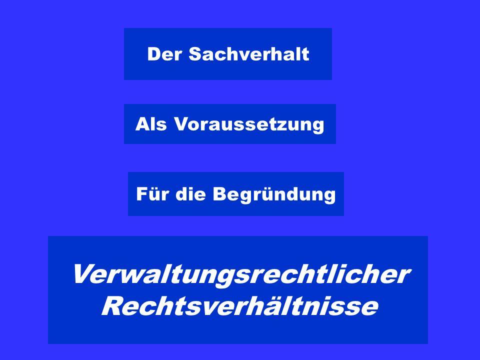 Strafrichter Sachverhalt der Vergangen- heit + Rechtli- cher Tatbe- stand = Urteil Verwaltung Rechtli- cher Tatbe- stand + Sachverhalt der Zukunft (Vergangen- heit) = Verfü- gung Art.