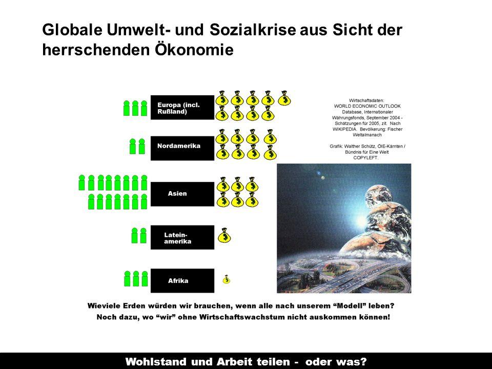Wohlstand und Arbeit teilen - oder was? Globale Umwelt- und Sozialkrise aus Sicht der herrschenden Ökonomie