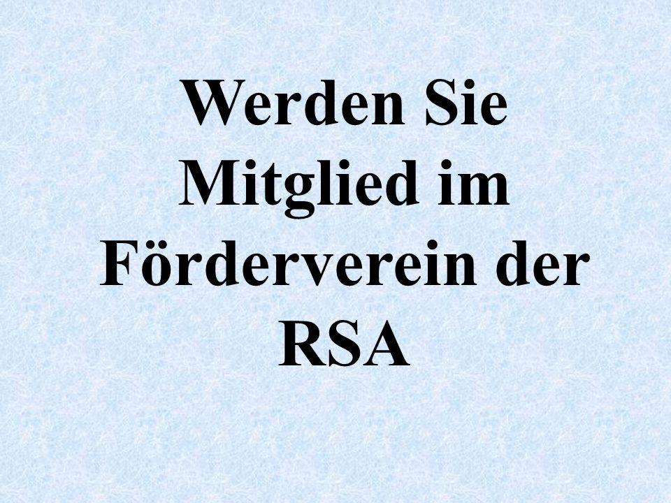 Werden Sie Mitglied im Förderverein der RSA