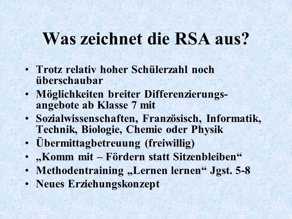 Was zeichnet die RSA aus.