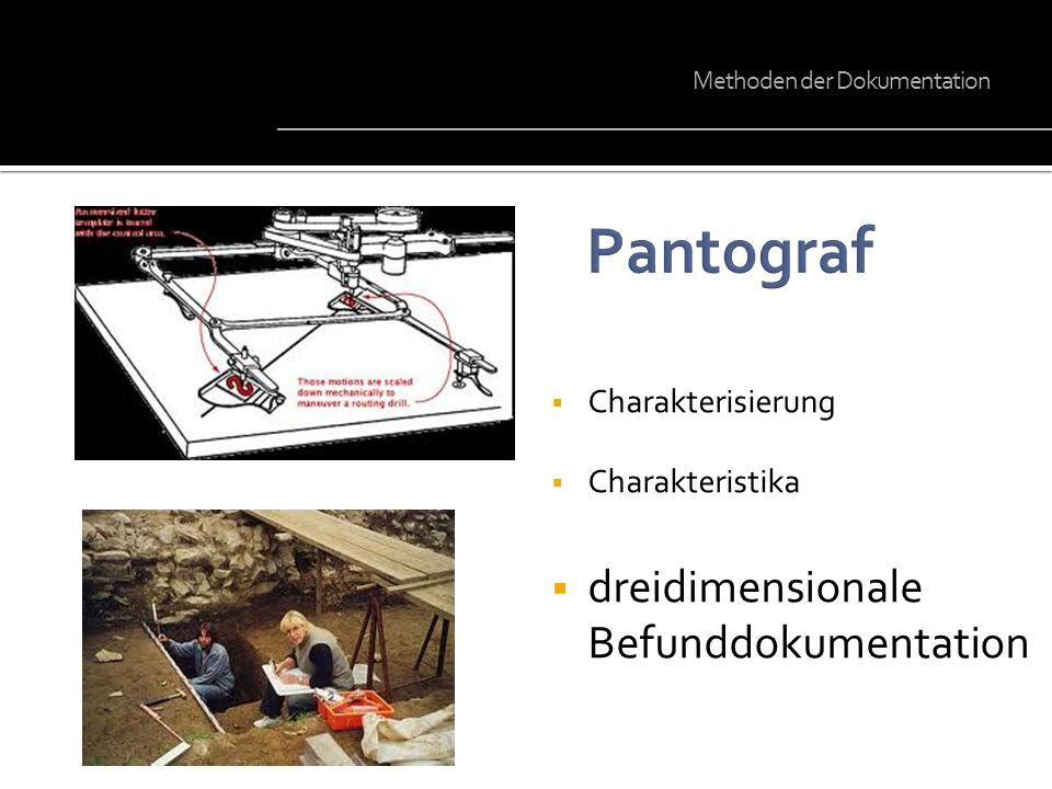 Charakterisierung Charakteristika dreidimensionale Befunddokumentation Methoden der Dokumentation